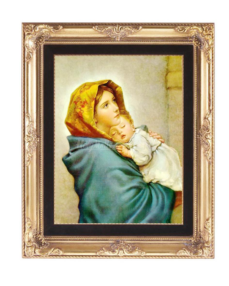 圣母抱耶稣 手绘油画 不带画框